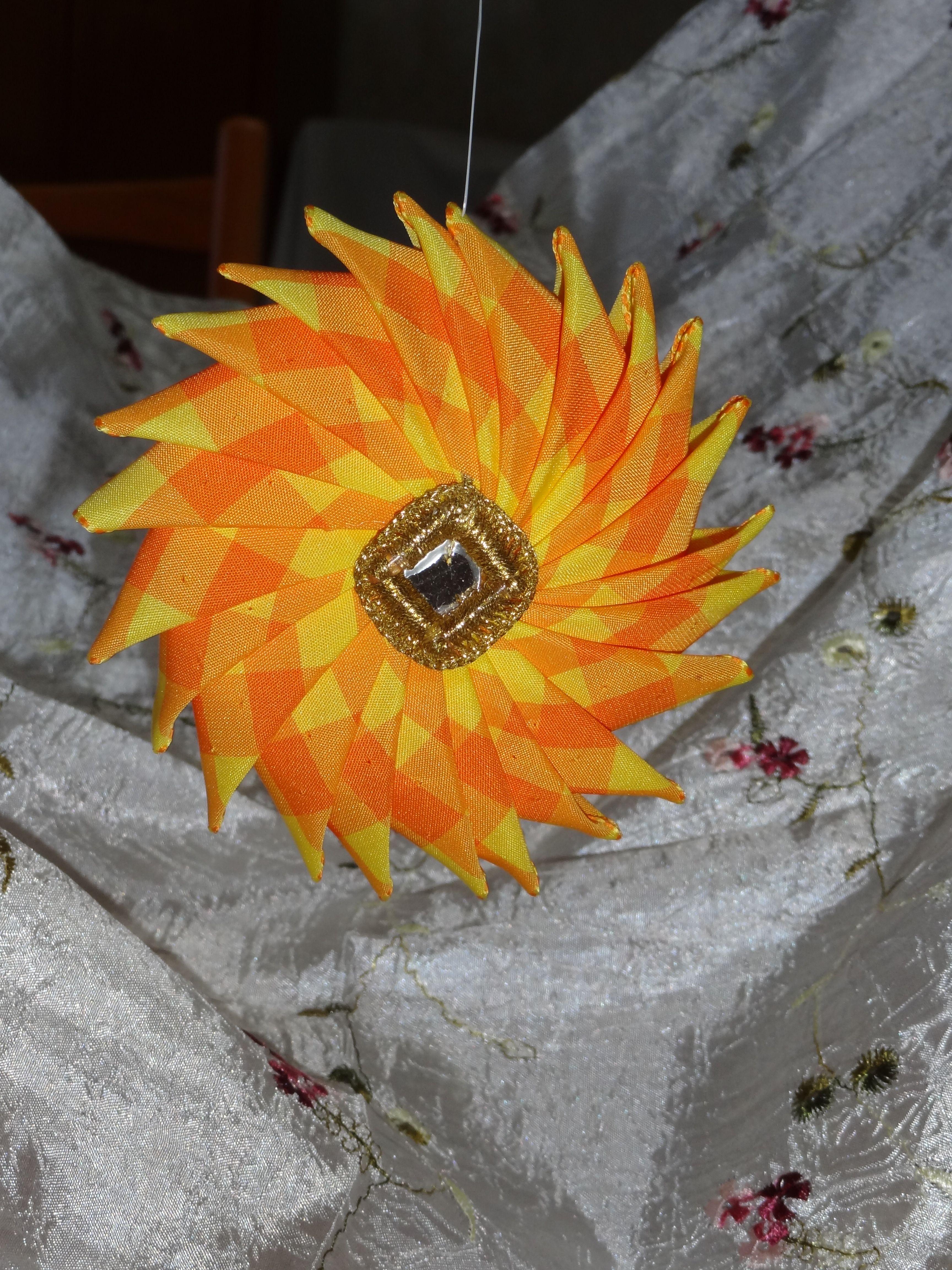 orange ribbon catherine wheel