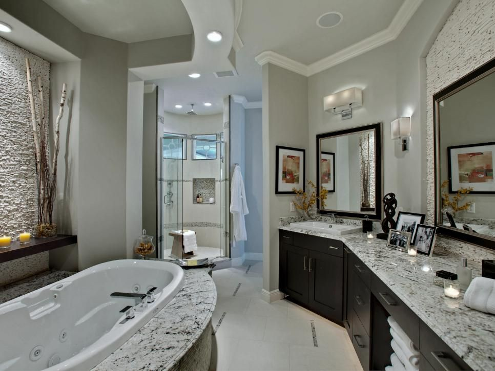 Delightful Natural Textures Of The Stacked Stone Found Behind The Mirror And Bathroom  Combine With The Unique