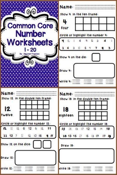 Number Worksheets Common Core For Kindergarten Common Core Math Kindergarten Common Core Kindergarten Math Worksheets