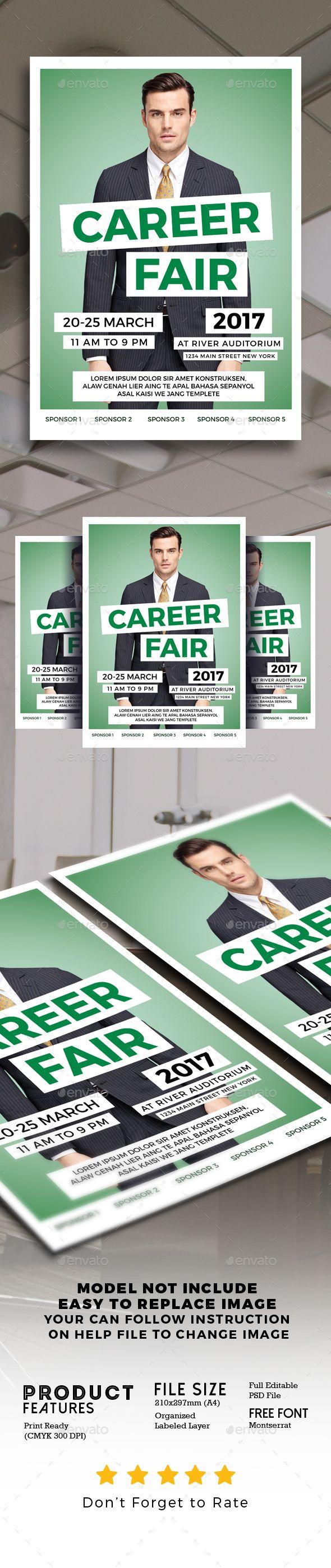 Career Fair Flyer Corporate invitation design, Flyer