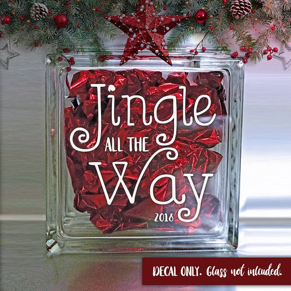 Check Out Jingle All The Way 2018 Design Holiday Vinyl Sticker Christmas Decal Holiday Crafts On Amberrockstar