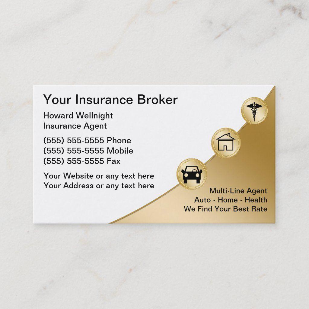 Insurance Broker Business Cards Zazzle Com Insurance Broker Life Insurance Marketing Life Insurance Marketing Ideas