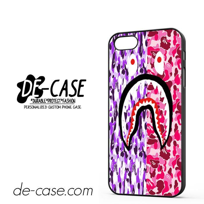 Bape Shark Camo Flag Red Violet DEAL-1346 Apple Phonecase Cover For Iphone 5 / Iphone 5S