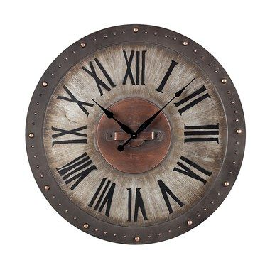Metal Roman Numeral Outdoor Wall Clock Industrial Clock Wall Outdoor Wall Clocks Roman Numeral Wall Clock
