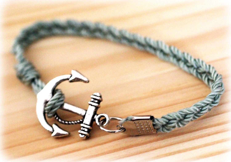 Anchor Bracelet Seafoam by GypseaSoulDesigns on Etsy, $12.00