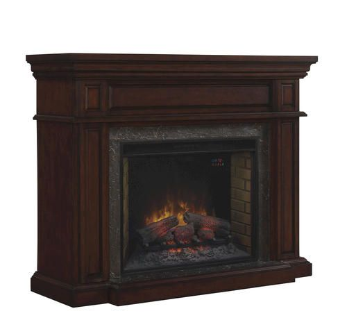 Electric Fireplace Insert Menards Fireplace Electric: Hoffland Wall Mantel In Roasted Walnut At Menards