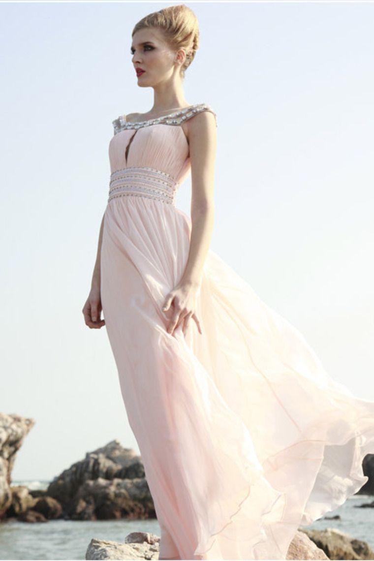 2012 Collection Prom Dress Scoop Sheath/Column Floor Length Beading/Sequins Ruffles