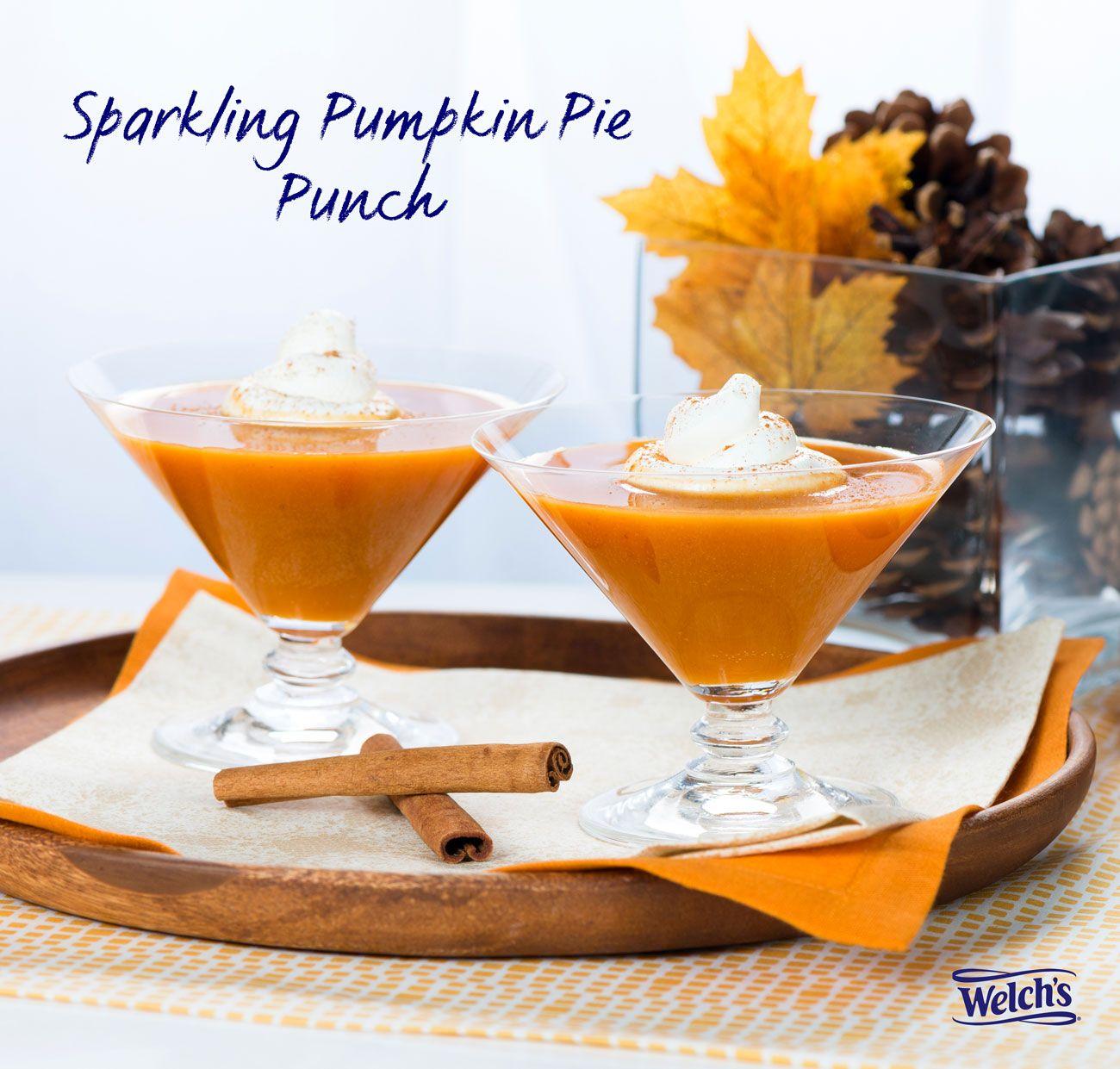 Sparkling Pumpkin Pie Punch Made With Welch's Sparkling