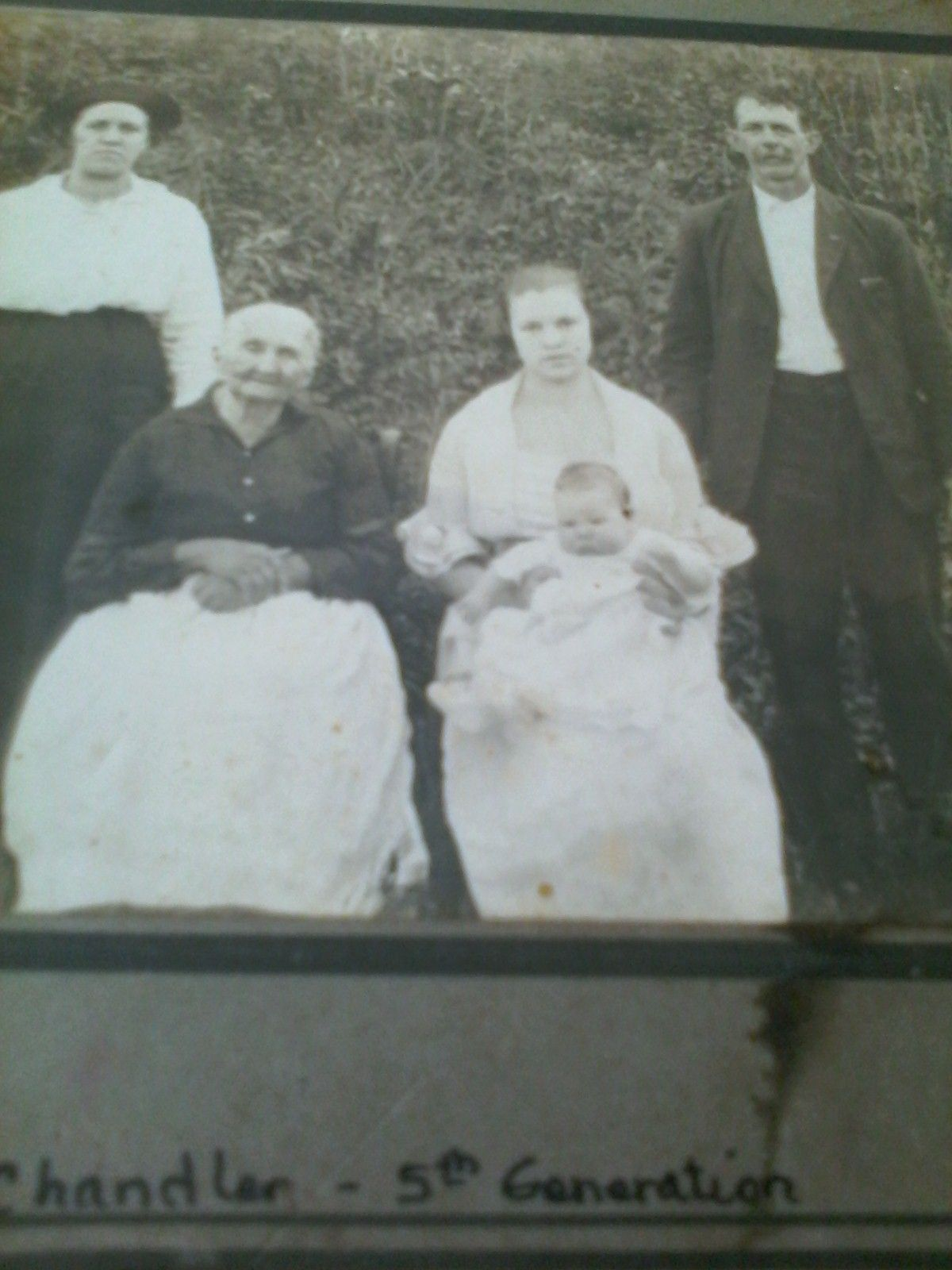 5 generations Chandler Family about 1920, WV