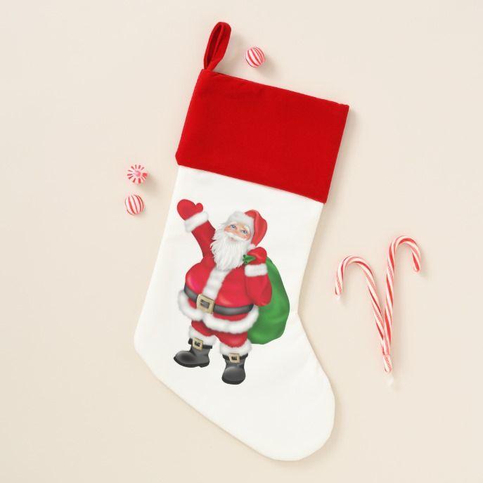 50e232a3a Cute Christmas Santa Holiday stocking  stocking  christmas  sock  xmas