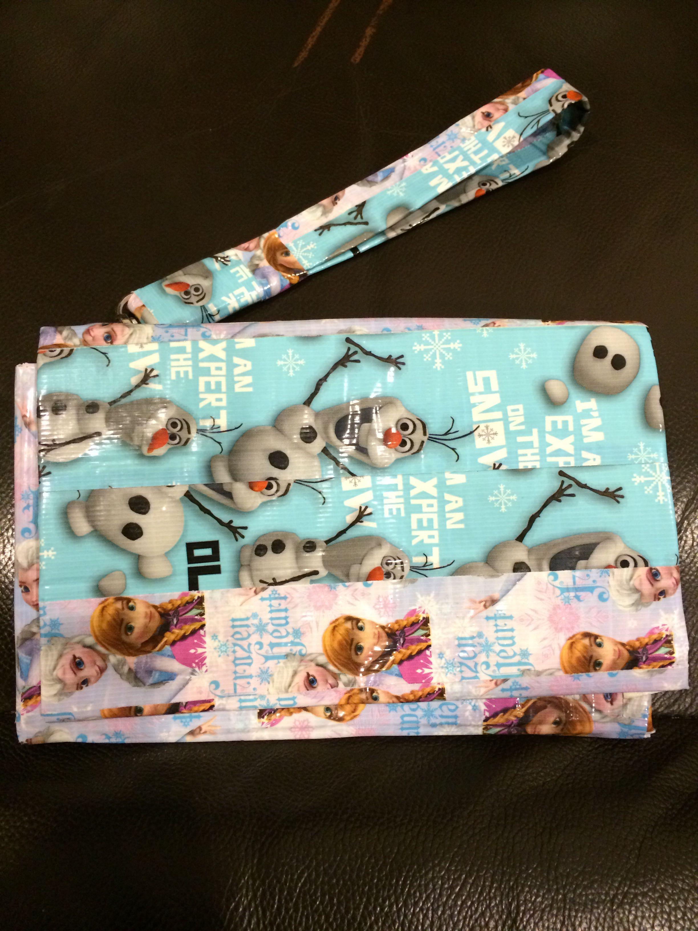 Disney Frozen Ducktape wallet 7inches w/ 5 inch zipper 5 card