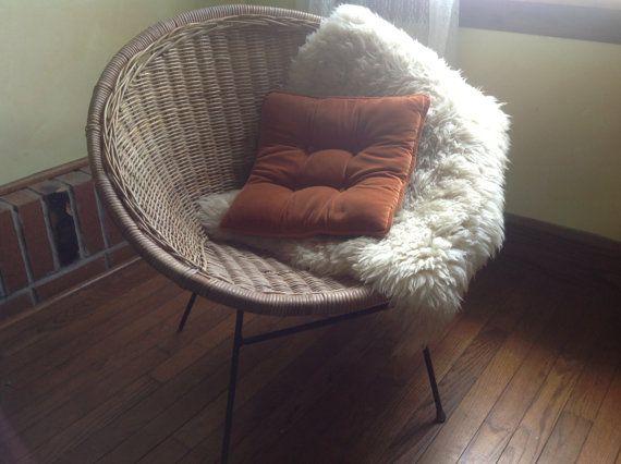 Sedie midollino ~ Mid century wicker rattan hoop chair sedie etsy e metà del secolo