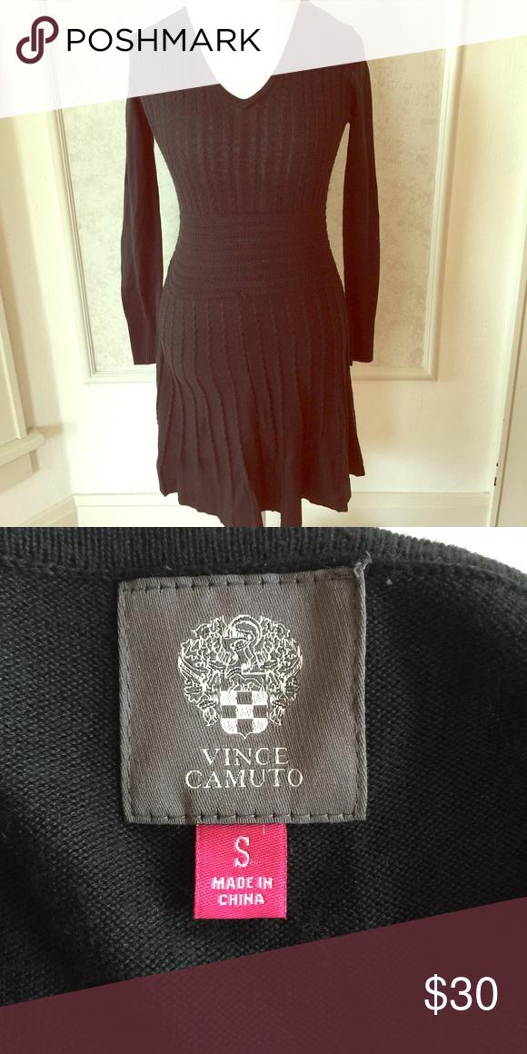 61a5e19f0b6 Vince Camuto Sweater Dress Like New. Black. Size Large Vince Camuto Dresses  Long Sleeve