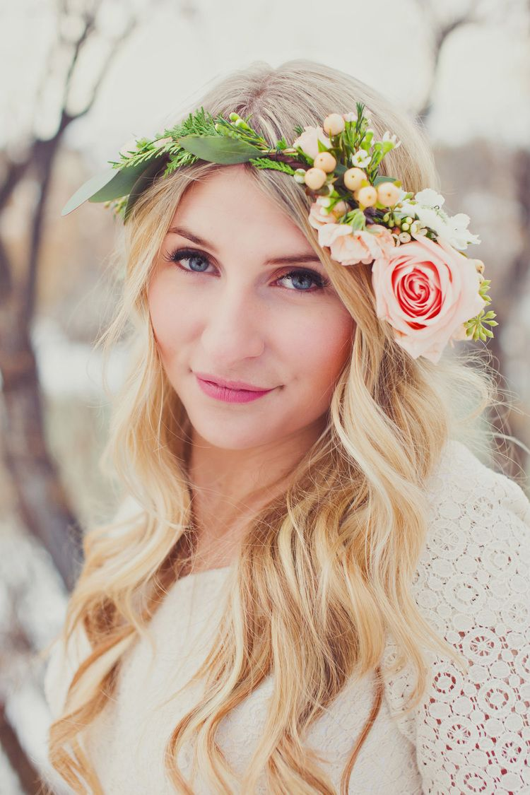 Steven Madie Bridals Winter Flowers Bridal Photography And