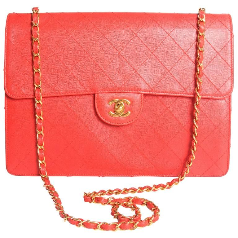 12e7d8ad06a8 1997 Chanel Jumbo Flap Bag Vintage - red caviar leather -crossbody ...