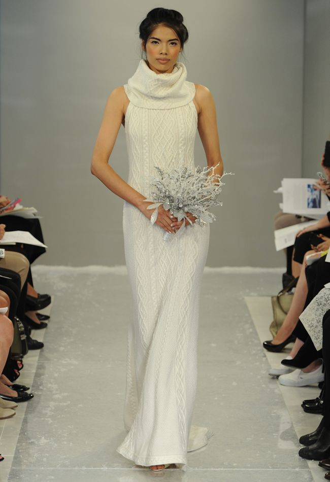 Theia Fall 2015 Wedding Dress Collection Includes Knit Turtleneck ...