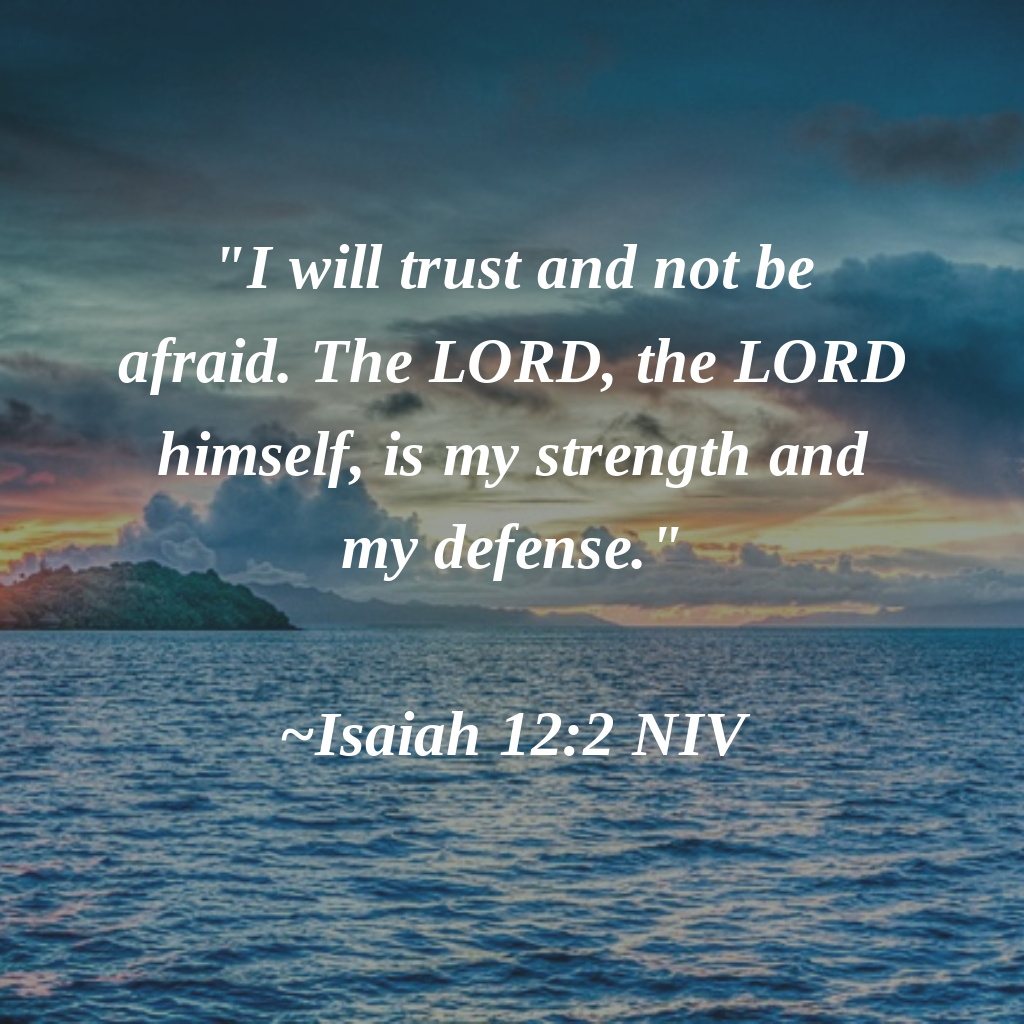 I Will Trust And Not Be Afraid The Lord The Lord Himself Is My Strength And My Defense Isaiah 12 2 Niv Amen Isaiah 12 Isaiah 12 2 Isaiah