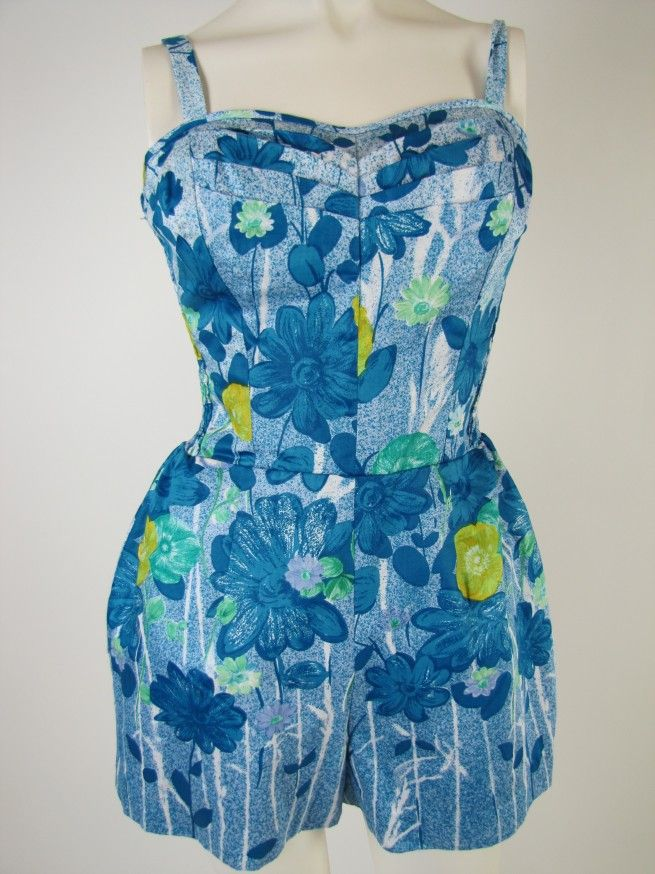 #Vintage #Hawaiian Bullock's Wilshire #Playsuit Sun Suit c. 1950's NOS
