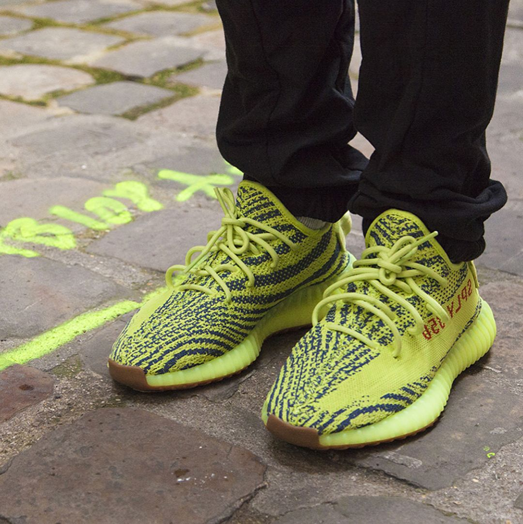 Semi Frozen Yellow YEEZY 350 V2
