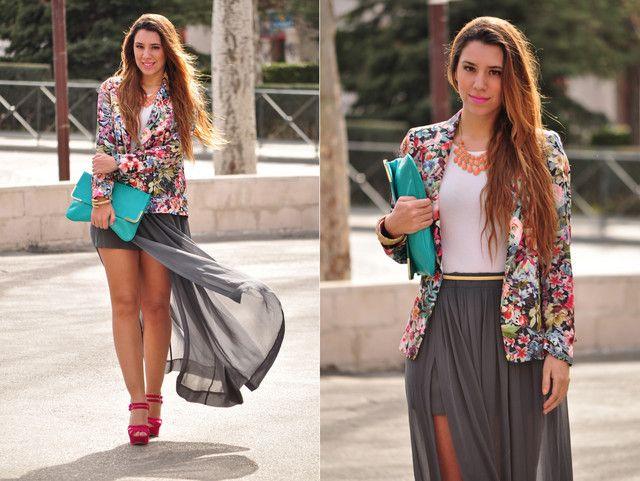 7f32a3e0b Looks con faldas largas gris - Trendtation | ♥ Estilo | Faldas ...