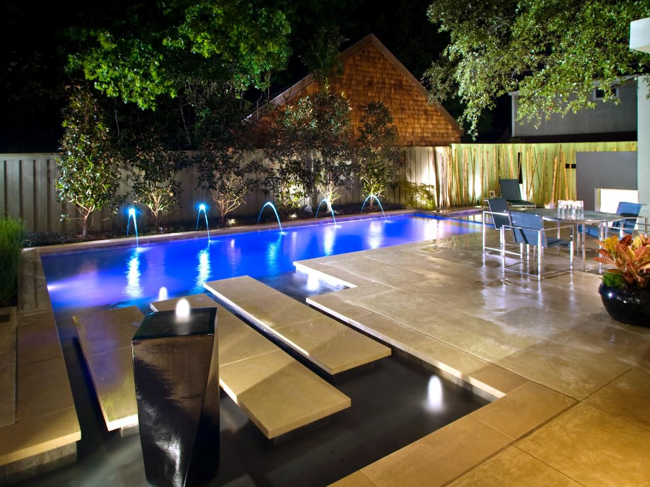 landscaping privacy solutions stucco walls modern backyard and