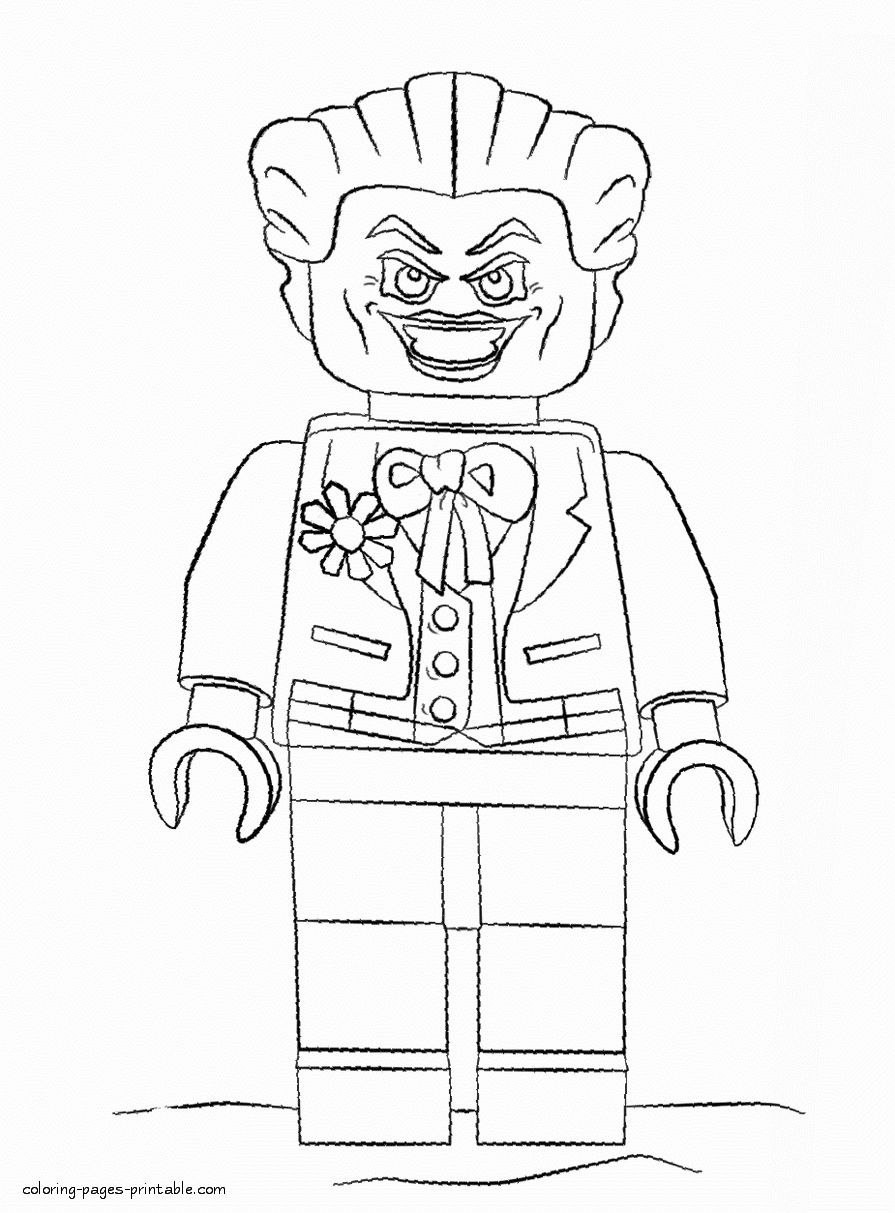 24 Lego Joker Coloring Page Batman Coloring Pages Lego