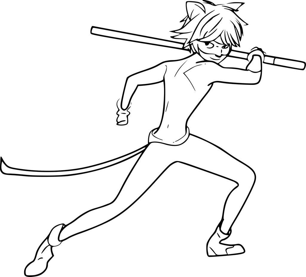 Coloriage Chat Noir Miraculous Ladybug Coloring Page Noir Color Coloring Pages