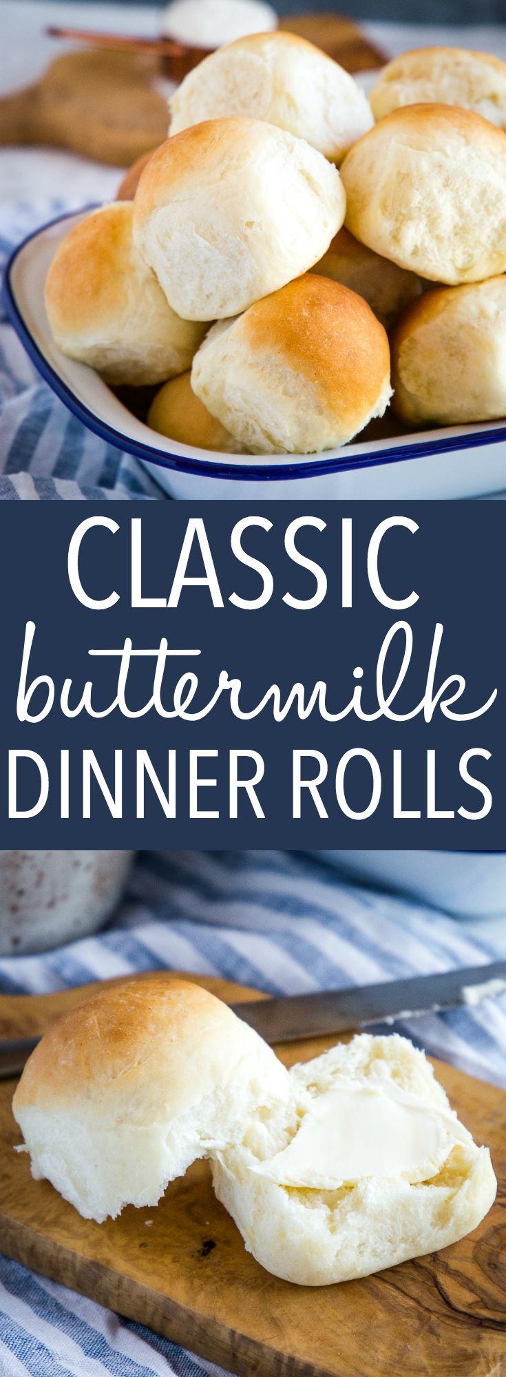 Easy Homemade Classic Buttermilk Buns Dinner Rolls The Busy Baker Recipe Dinner Rolls Recipes Yummy Healthy Breakfast