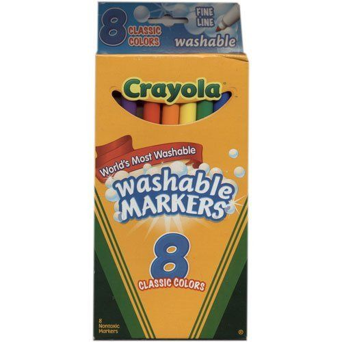 crayola fine line washable markers 8 pkg classic colors 2 pack