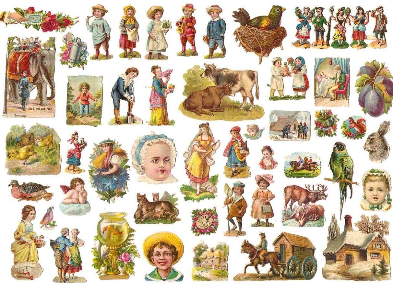 Miniature Victorian Die Cuts
