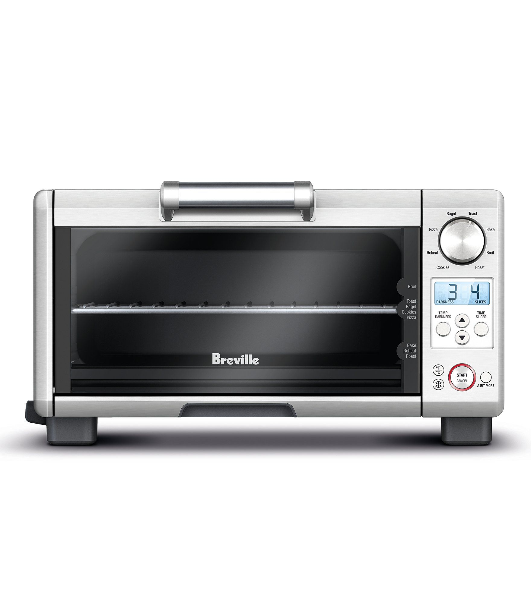 Breville Mini Smart Oven 8 Functions Toaster Oven Brushed Stainless Steel In 2020 Toaster Brushed Stainless Steel Oven