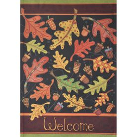 Fall Leaves Welcome Small House Yard Porch Garden Decorative Flag Banner