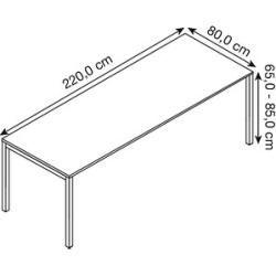 Photo of Bisley Cito height adjustable desk maple rectangular Bisley