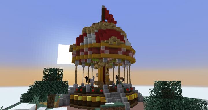 Minecraft Christmas Builds 15 25 Carousel Minecraft Project Minecraft Christmas Minecraft Crafts Minecraft Creations