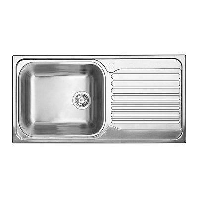 32 Infinite Rectangular Drop In Stainless Steel Prep Sink With Drainboard Bar And Prep Sinks Kitche Drainboard Sink Prep Sink Stainless Steel Kitchen Sink