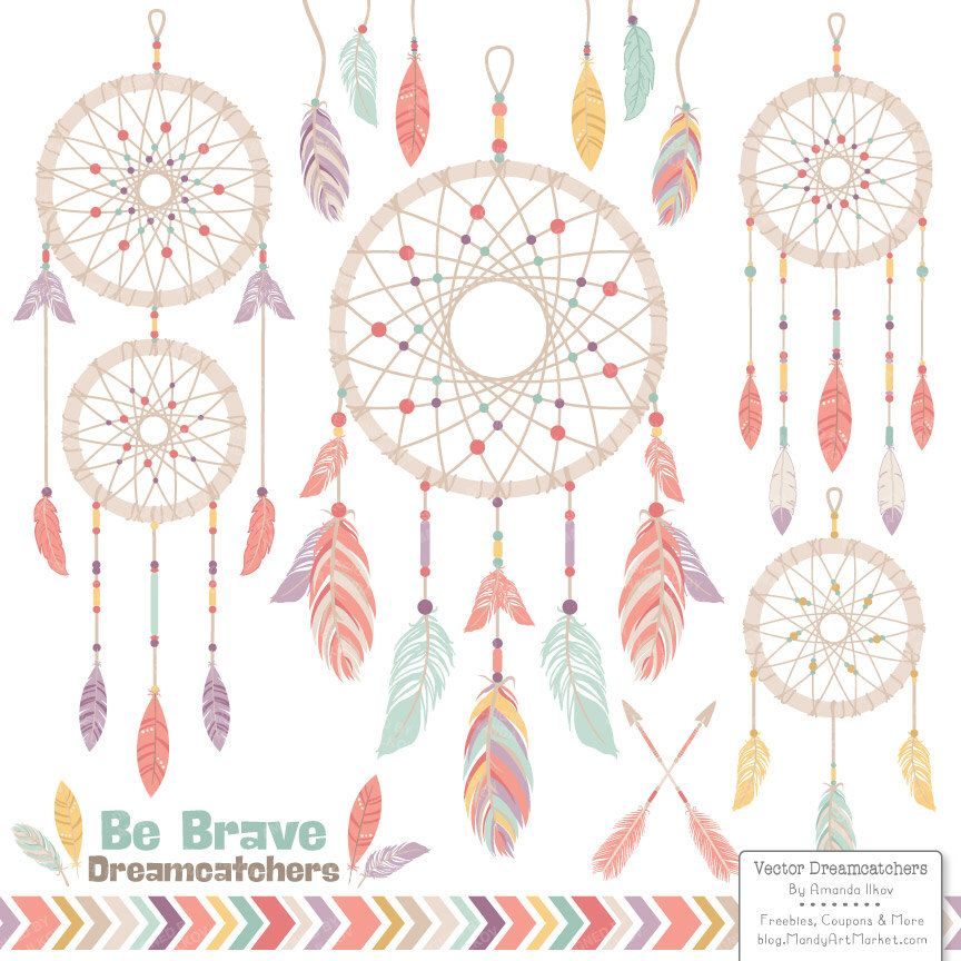 Vintage dreamcatcher clipart dreamcatcher vectors for Dream catcher graphic