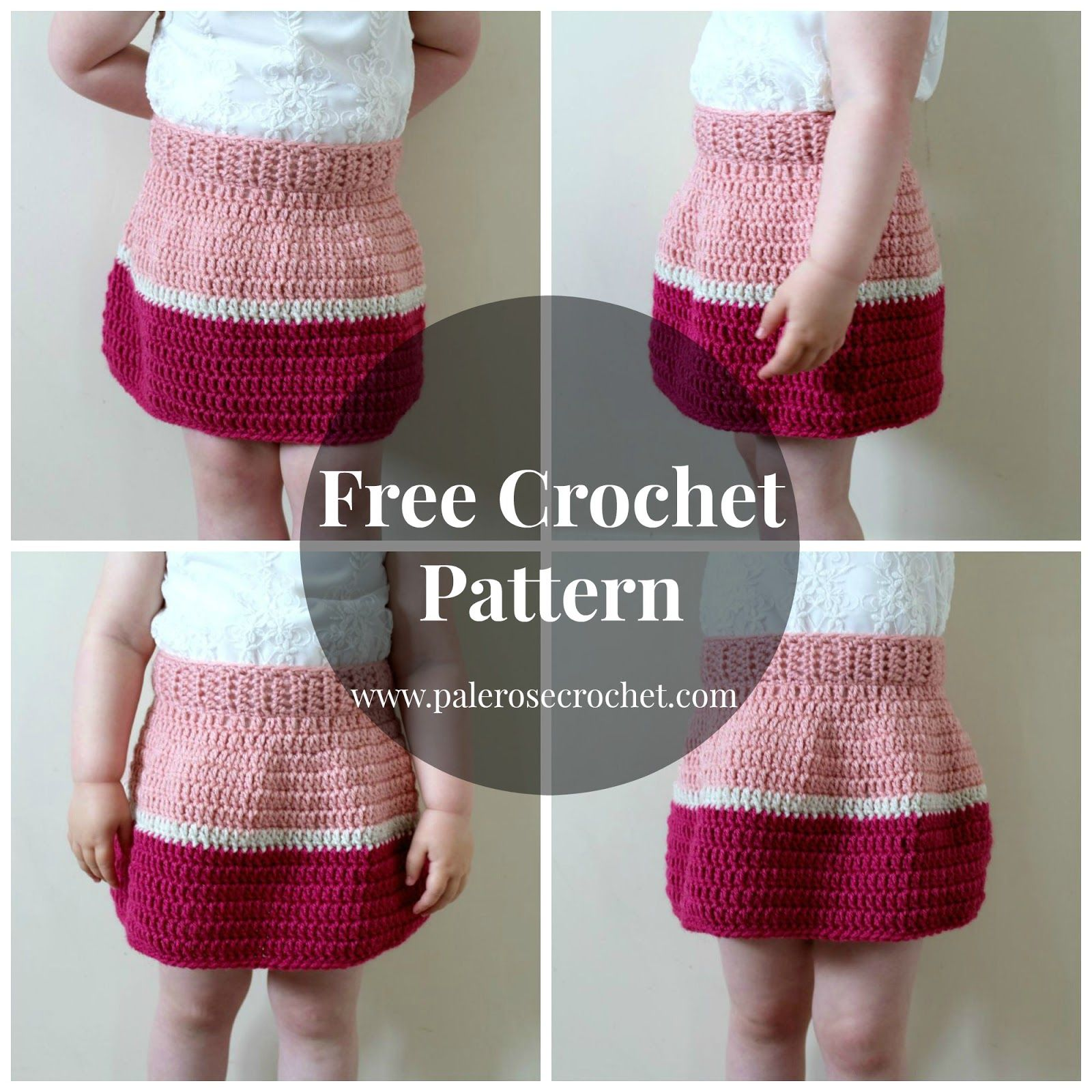 Toddler Colour Block Skirt - Free Crochet Pattern | Pale Rose ...