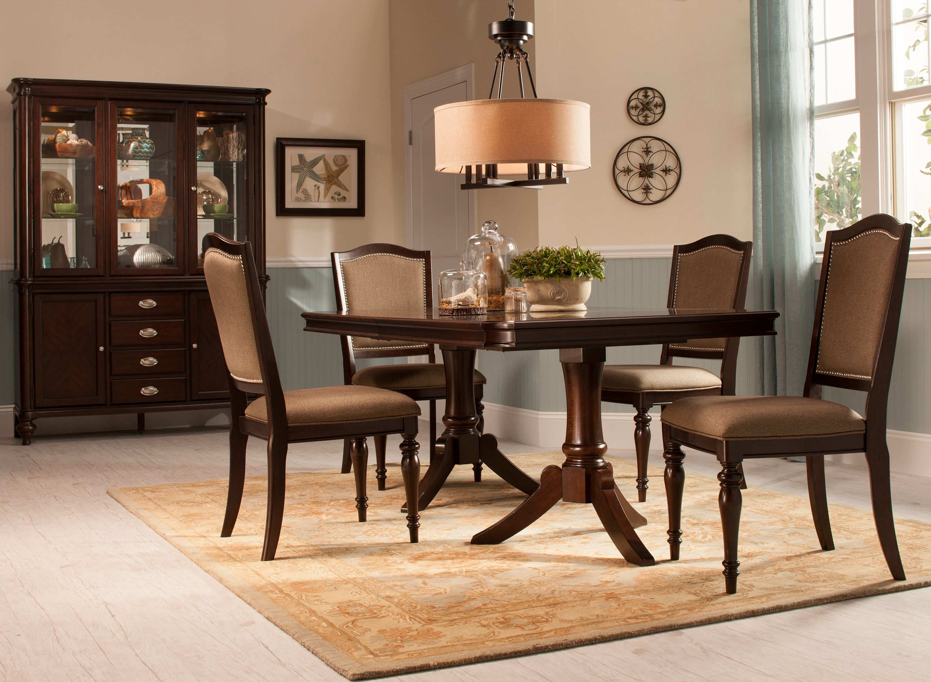 Refined Yet Relaxing The Bay City Dining Set Delivers Elegance Thats Fit For A Formal Gathering