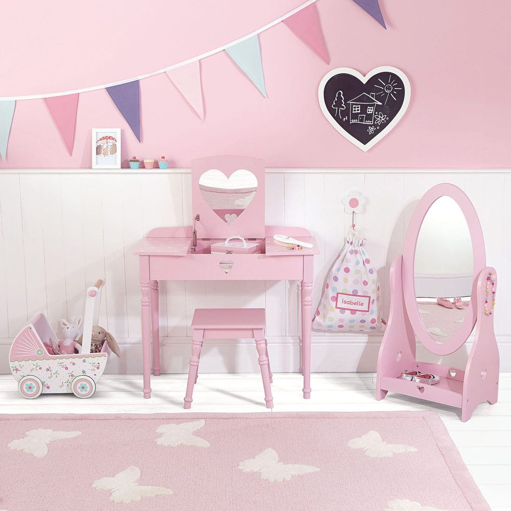 Pink Accessories For Bedroom Sweetheart Mirror Pink Dressing Table Accessories Furniture