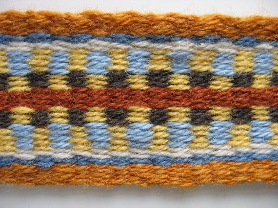 hand-woven wool tenor, clawhammer banjo or F mandolin strap