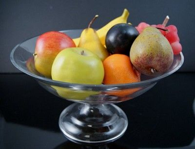 Hfa2734mf Fake Food Mixed Fruit In Glass Pedestal Bowl Fake Fruit Bowl Fake Fruit Fake Fruit Decor