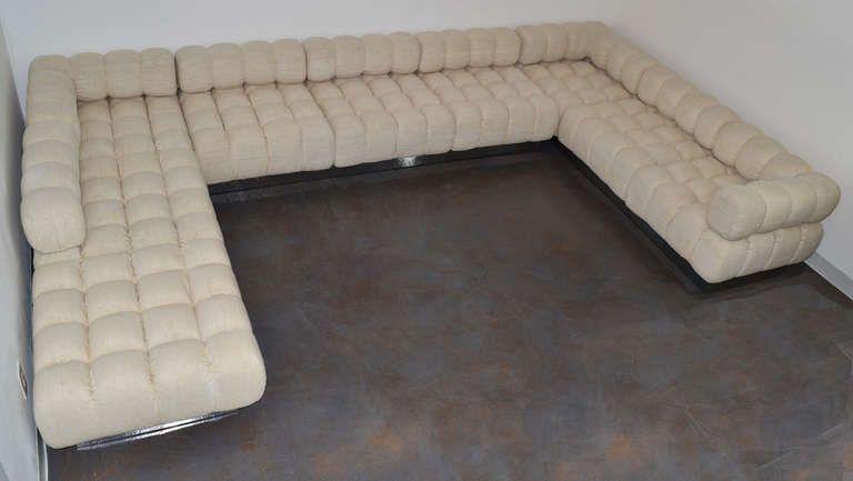 Rare 9 Piece Modular Sofa Deep Tuft By Harvey Probber From A