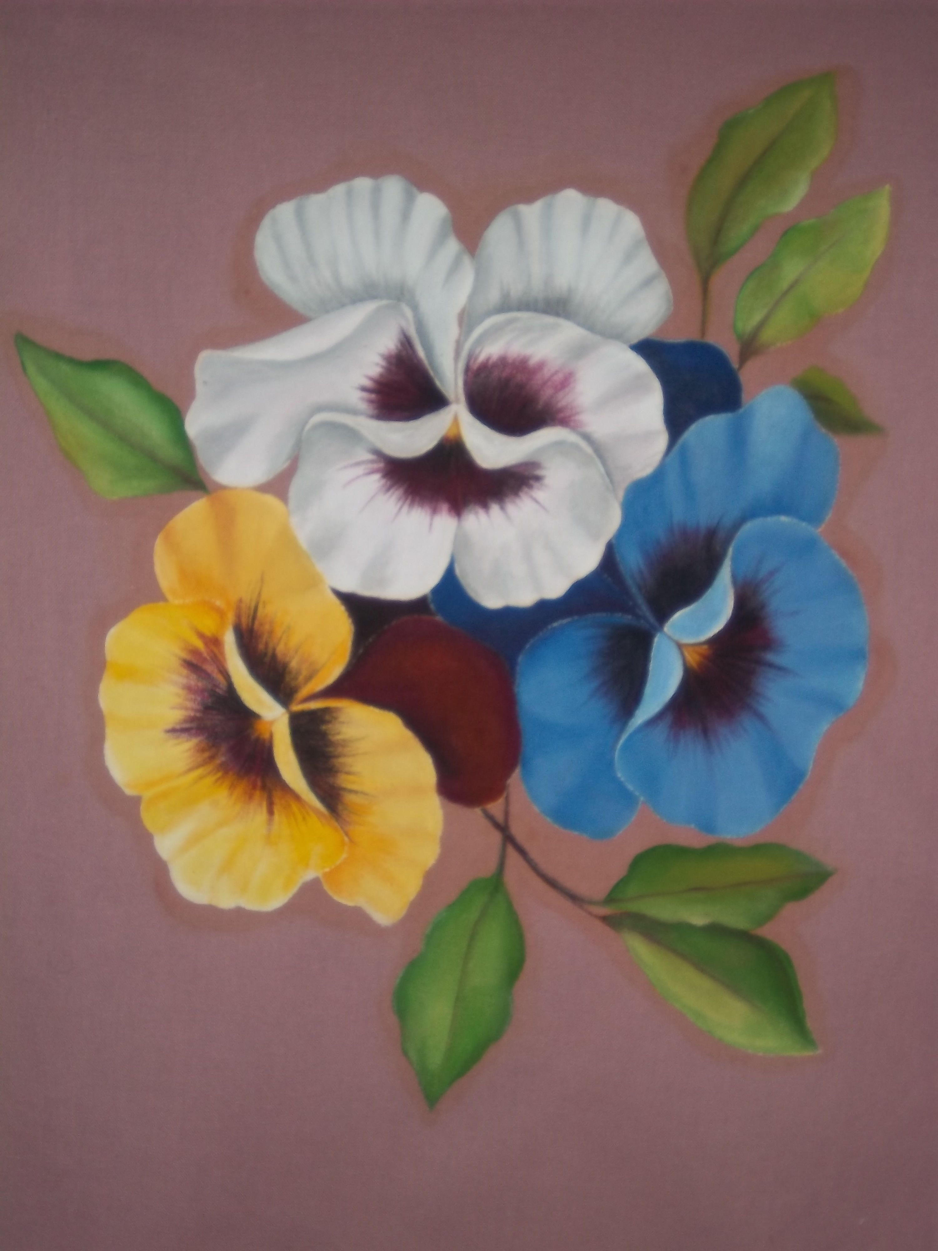 how to draw a pansy flower