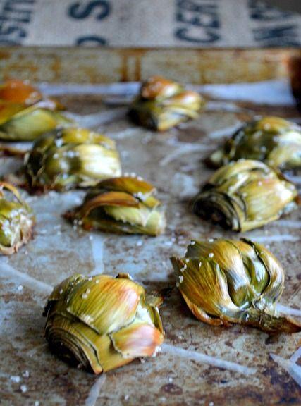 Little Baby Artichokes | Artichoke recipes, Baby artichoke ...