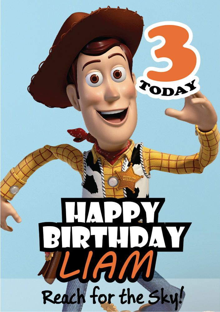 Toy Story Woody Personalised Kids Birthday Card A5 Crafting With