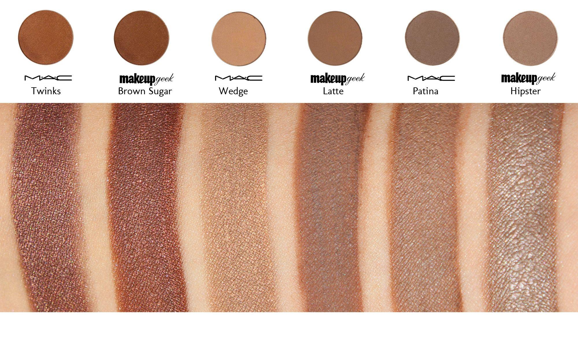 The List of MAC Dupes for Makeup Geek Eyeshadows Makeup