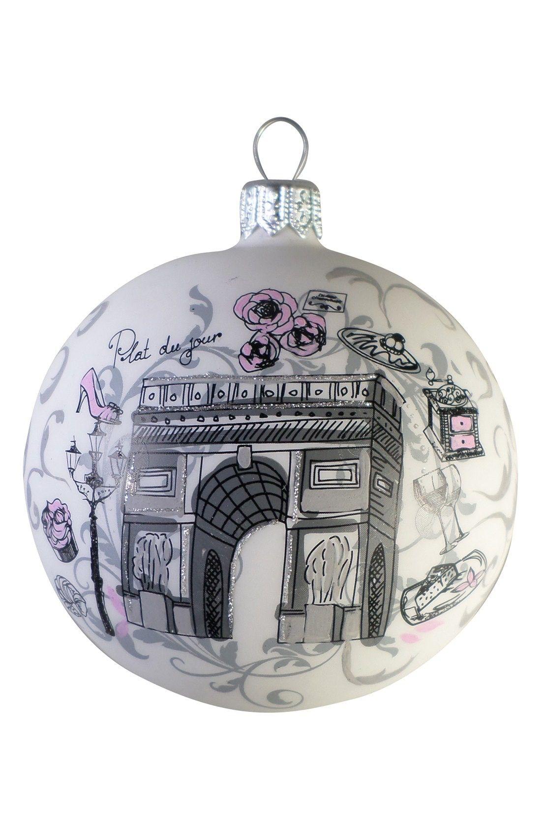London UK Glass Ball Christmas Ornament 3.25 Inches Big Ben
