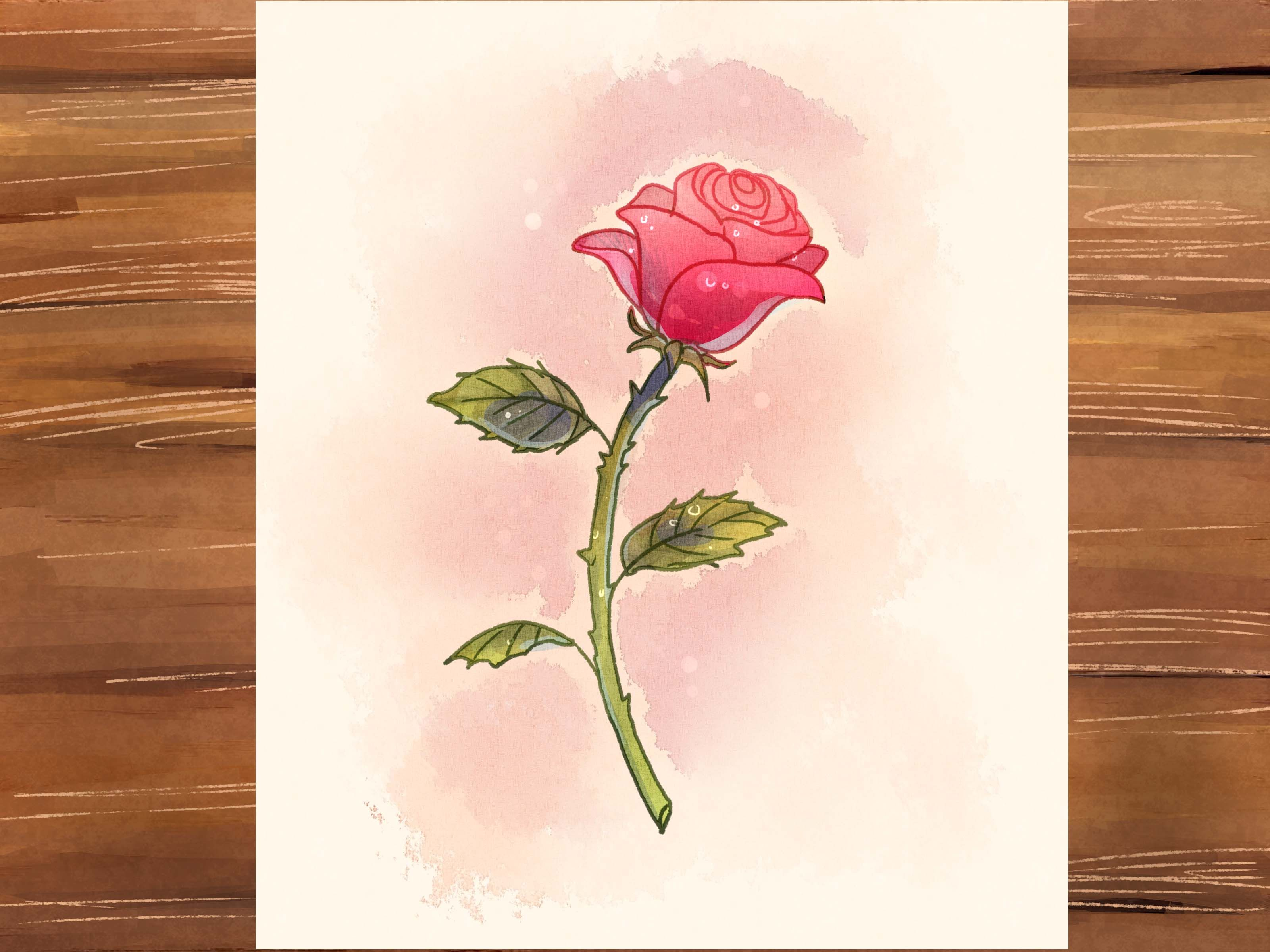 How To Draw A Rose Flower Drawing Rose Drawing Roses Drawing