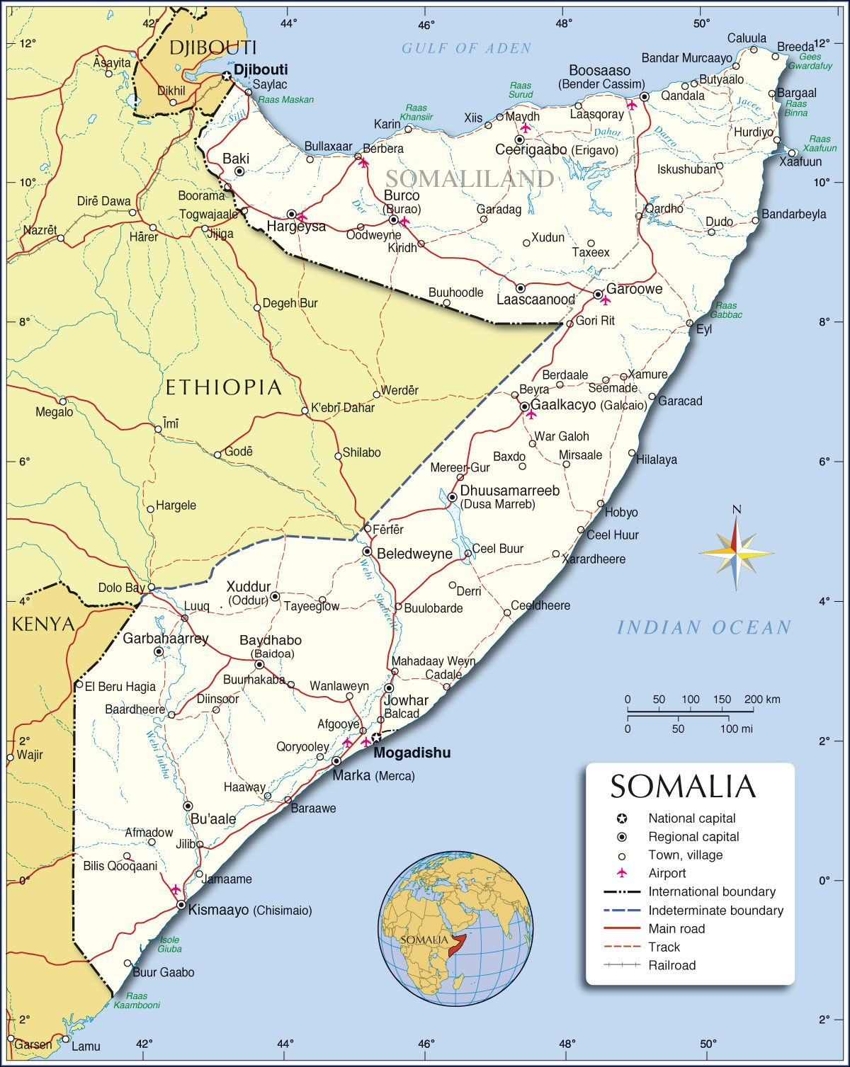 Map Of Somalia Cities Google Search MAPS Pinterest Africa - Africa map with cities