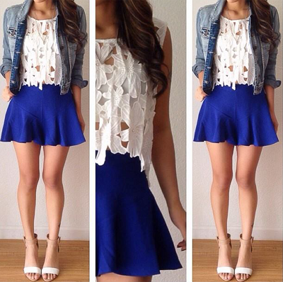 white mini skirt outfit | Skirt outfit ideas | Pinterest | Mini ...